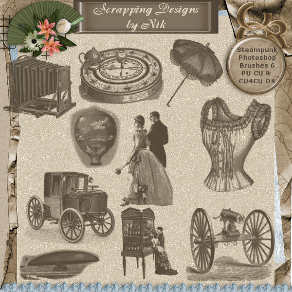 Steampunk Photoshop Brushes 6