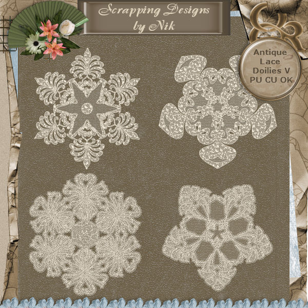 Antique Lace Doilies V