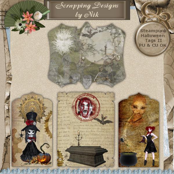 Steampunk Junction Halloween Tags II