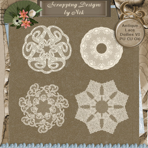Antique Lace Doilies VI