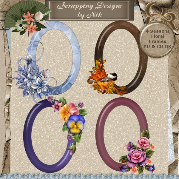 4 Seasons Floral Frames