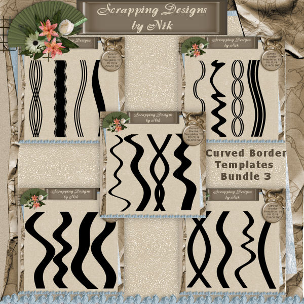 Curved Border Templates Bundle 3