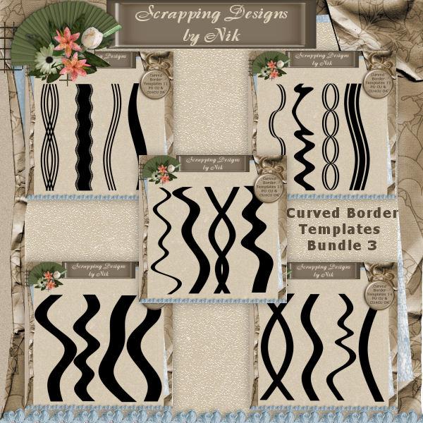 Curved Border Templates Bundle 3
