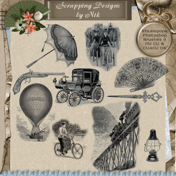 Steampunk Photoshop Brushes 9