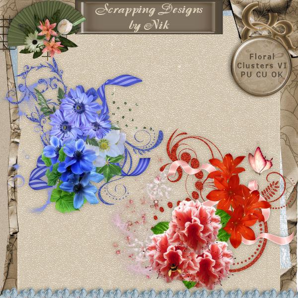 Floral Clusters VI