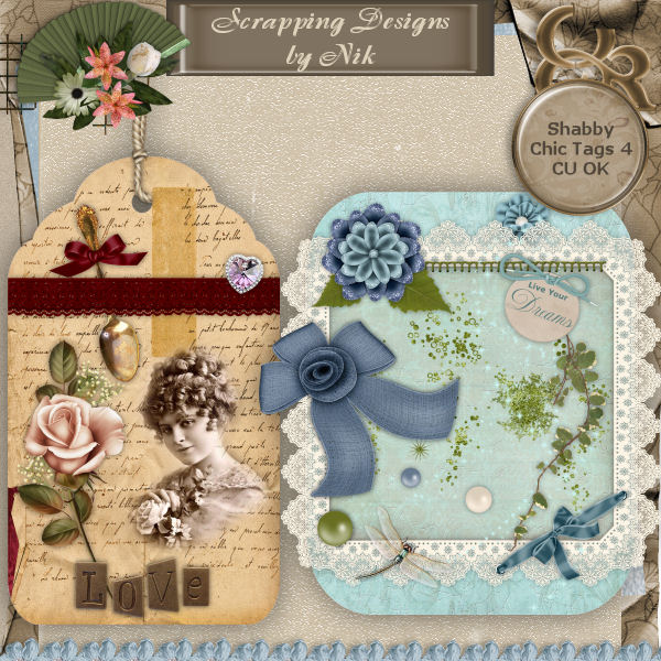 Shabby Chic Tags 4