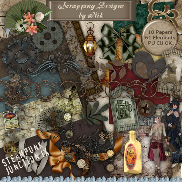Steampunk Junction IX Full Size Kit