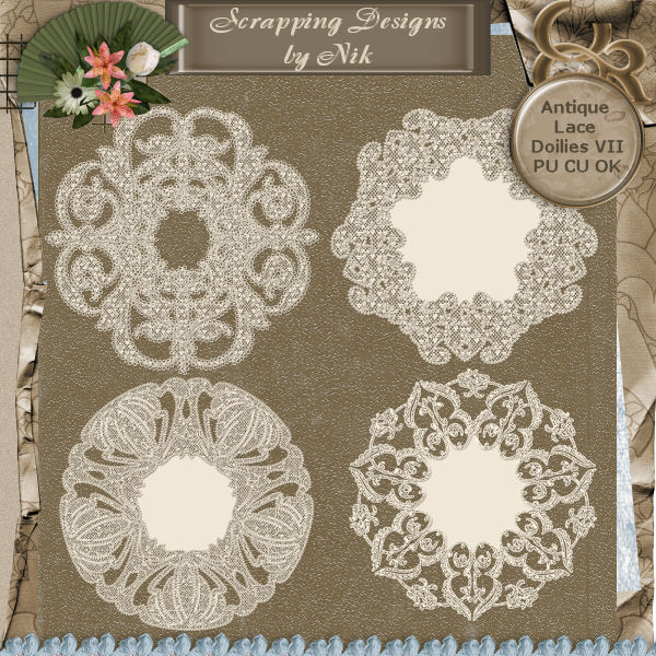 Antique Lace Doilies VII