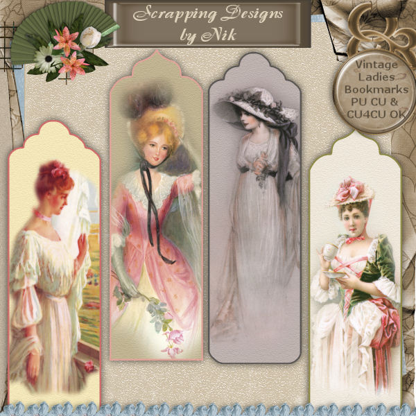 Vintage Ladies Bookmarks