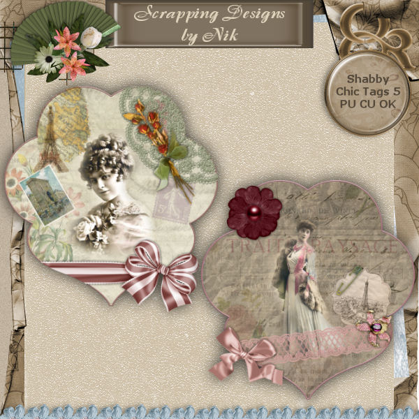 Shabby Chic Tags 5