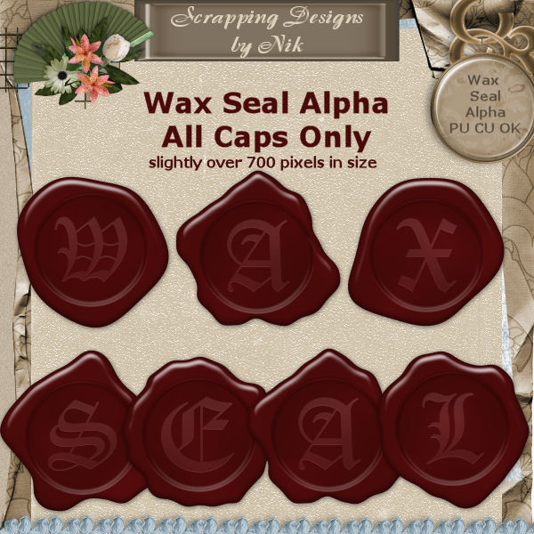 Wax Seal Alpha Caps