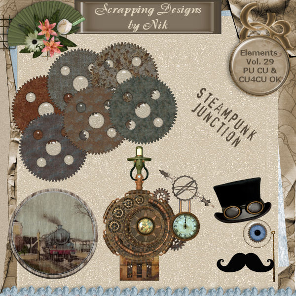 Steampunk Junction Elements Vol. 29