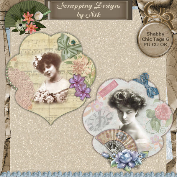 Shabby Chic Tags 6