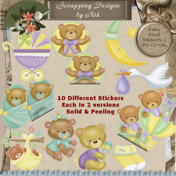 Baby Stuff Stickers 2