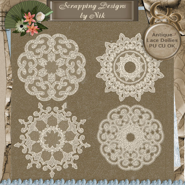 Antique Lace Doilies IX