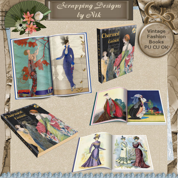 Vintage Fashion Books