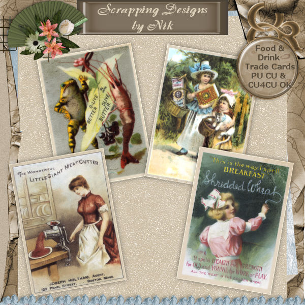 Food & Drink Trade Cards