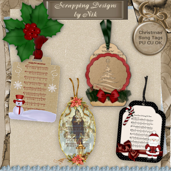 Christmas Song Tags