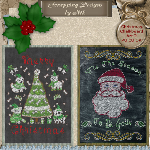Christmas Chalkboard Art 2