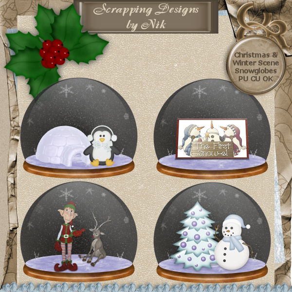 Christmas & Winter Snowglobes