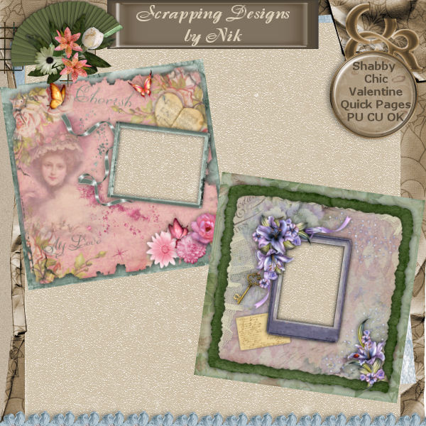 Valentine Shabby Chic Quick Pages