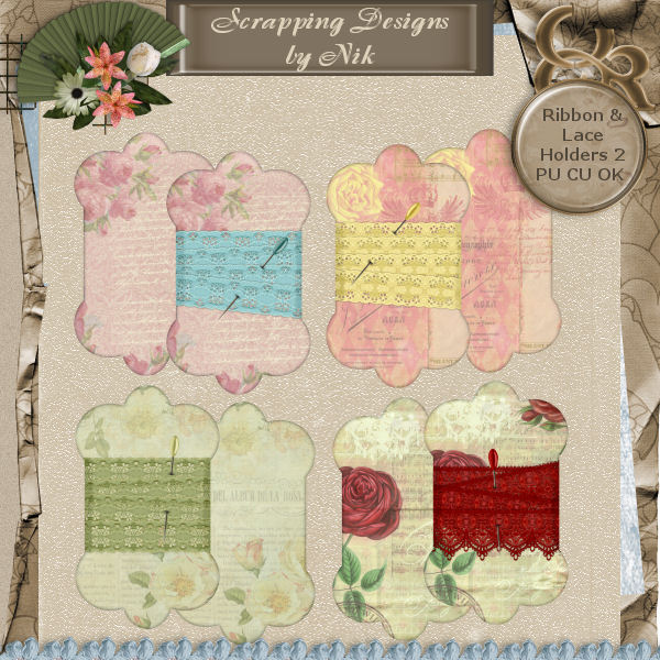Ribbon & Lace Holders 2