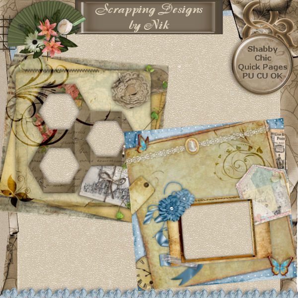 Shabby Chic Quick Pages