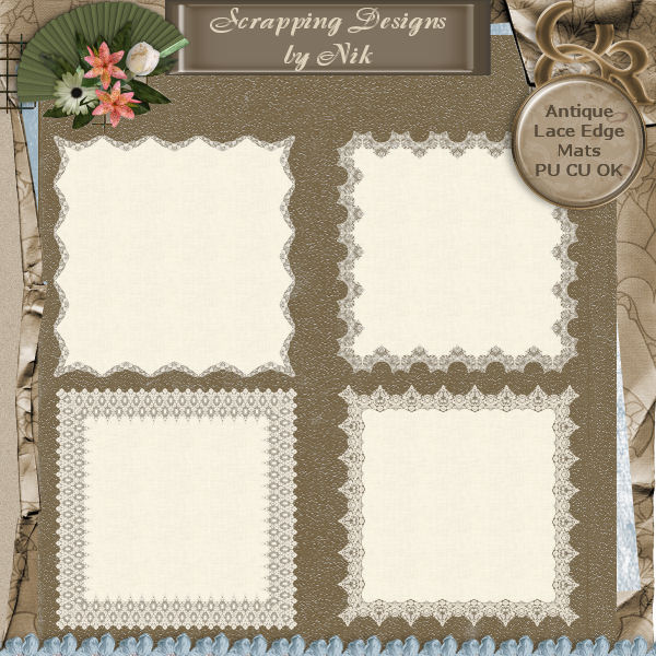 Antique Lace Trim Mats