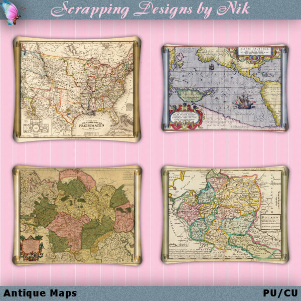 Antique Scroll Maps