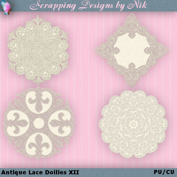 Antique Lace Doilies XII