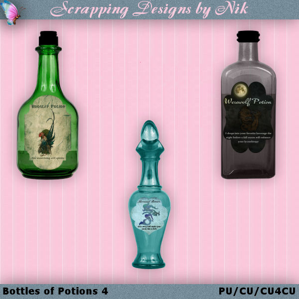 Bottles of Potions 4