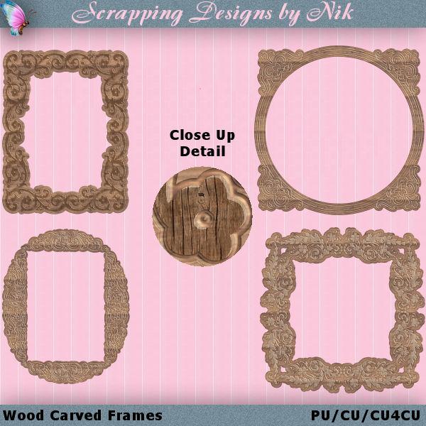 Wood Carved Frames