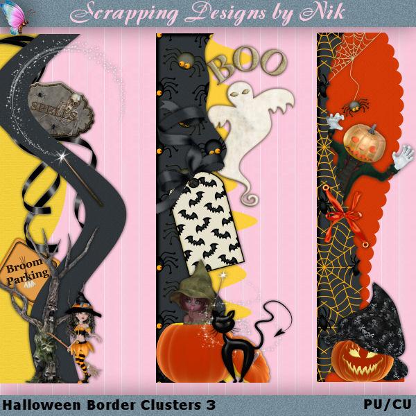 Halloween Border Clusters 3