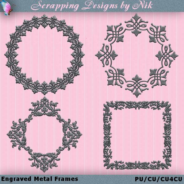 Engraved Metal Frames