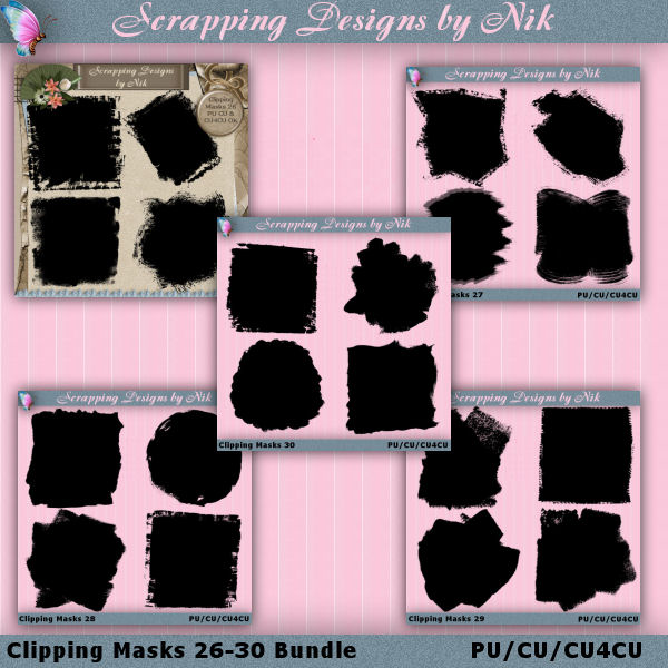 Clipping Masks 26-30 Bundle