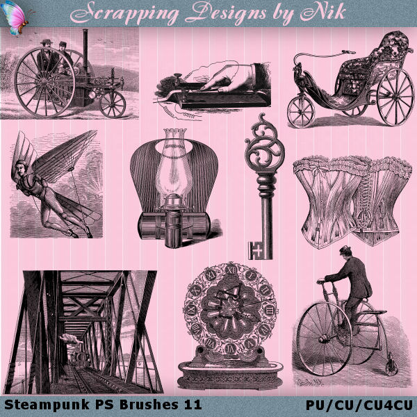 Steampunk Photoshop Brushes 11