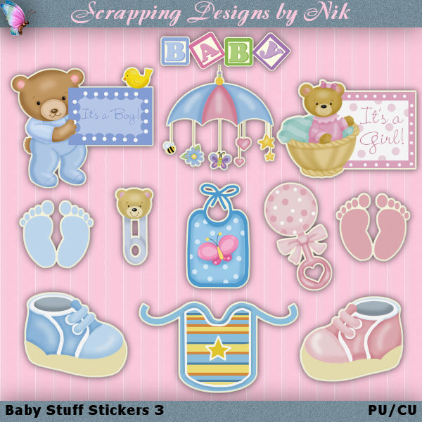 Baby Stuff Stickers 3