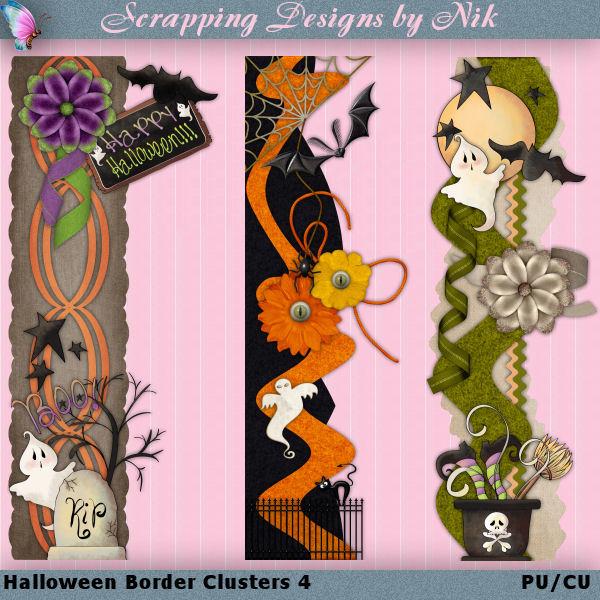 Halloween Border Clusters 4