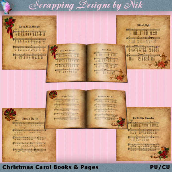 Christmas Carol Books & Pages