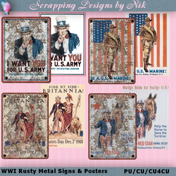 WWI Rusty Signs & Posters