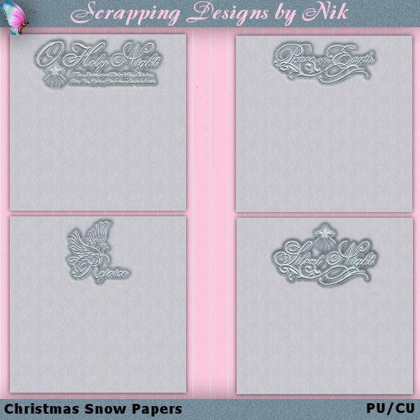 Christmas Snow Papers