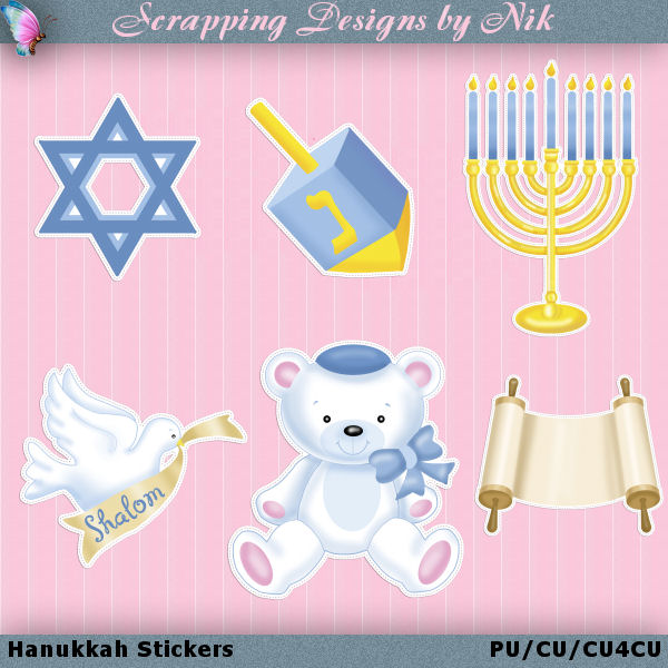 Hanukkah Stickers