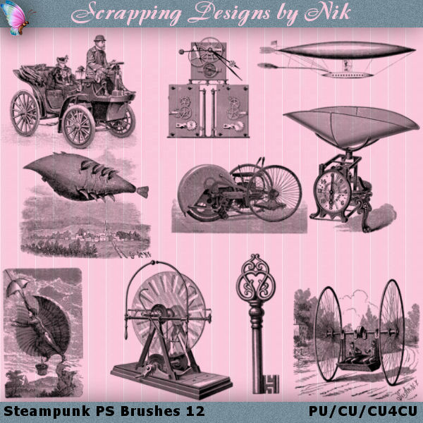 Steampunk Photoshop Brushes 12