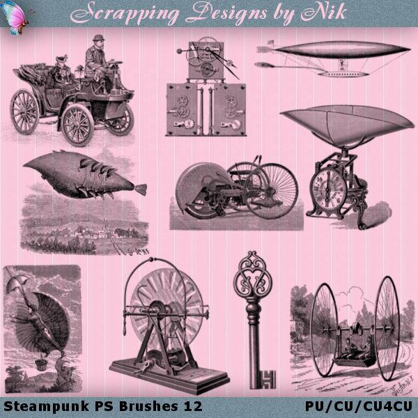Steampunk Photoshop Brushes 12