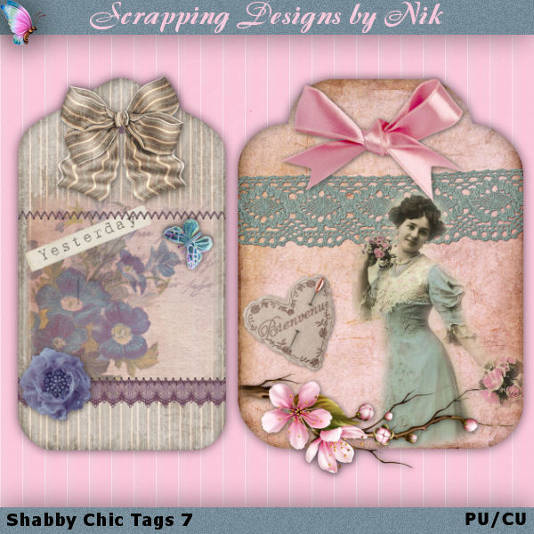 Shabby Chic Tags 7