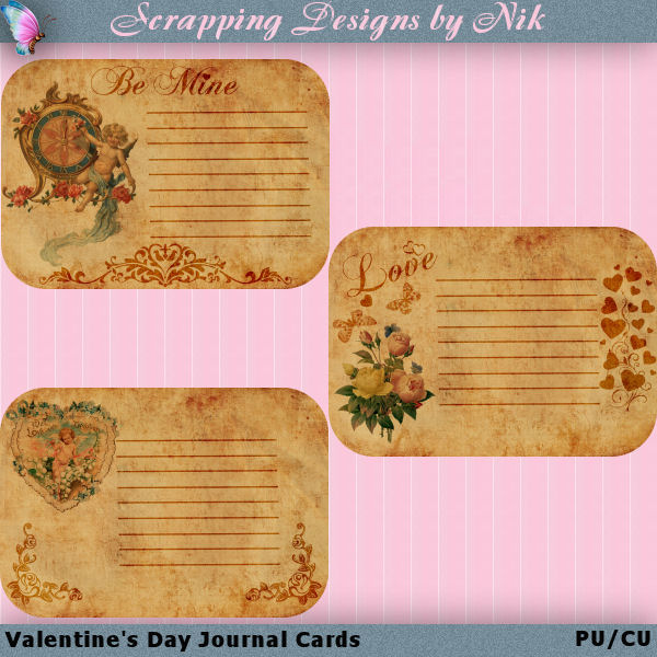Valentine's Day Journal Cards