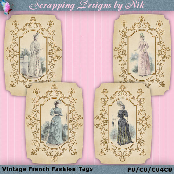 Vintage French Fashion Tags