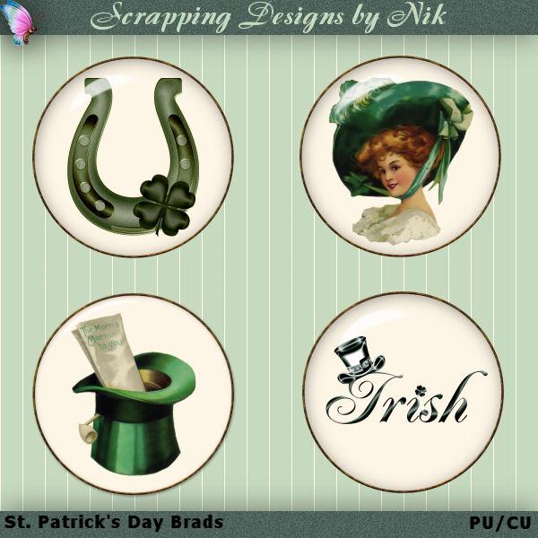 St. Patrick's Day Brads