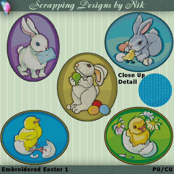 Embroidered Easter 1