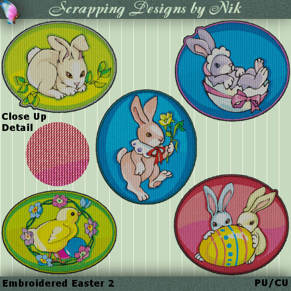 Embroidered Easter 2